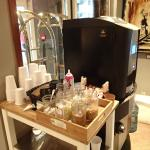 Hot chocolate and coffee station in lobby