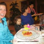 AT DINNER WITH LAURA'S DAUGHTER
