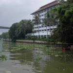One of hotel wings from river