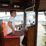 River boat driver - all very friendly
