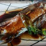 Fresh fish in soy sauce