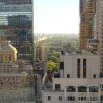 View from our room 46th floor to rear Central Park.