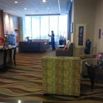 Seating Area in Lobby at Hilton Garden Inn Montreal Centre-Ville