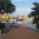 Entrance from the marina side