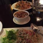 Soup salad and pad Thai