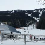 view from wizard chairlift up Lower Cruiser slope