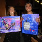 Our finished paintings!
