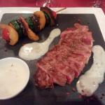 Entrecote steak with a Gorgonzola sauce