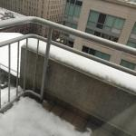 Snow on the balcony