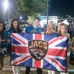 My Son with the Jaguars Cheerleaders (Made his day!!)