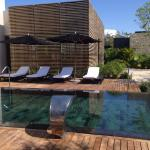 Spa pool in private courtyard