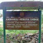 Amboseli Lodge sign