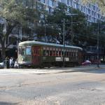 St Charles Street Trolley in front of hotel