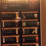 Great happy hour deal at the bar!!!