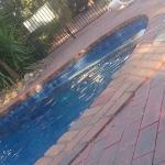 The solar heated pool