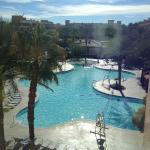 View of main pool from building 2