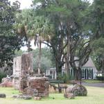 historic ruins from the original hunting lodge