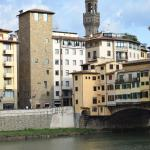 view of hotel from other side of the Arno river