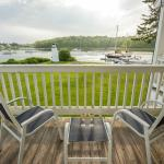Portside balcony overlooking the lighthouse and Kennebunk River