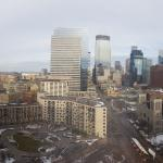 Day view of Minneapolis from 18th floor room