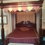 Nice four poster bed in our room.