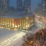 Lincoln Center during snowstorm