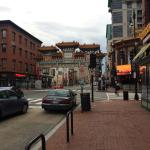 Chinatown arch located 1 block