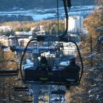 View over Sauze from Sportina ski lift