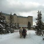 View from back of Chateau Lake Louise
