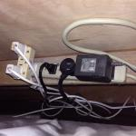This are the cables behind the bed. VERY DANGEROUS!