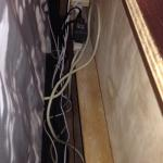 Behind your bed! A Cable Extencion over another cable Extencion and more cables. 