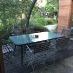 Ouside eating area