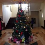 Hotel du Parc, Christmas tree in the lobby