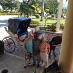 Our horse and buggy ride in front of the resort