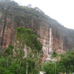 The cliffs of the karst hills surrounding the homestay