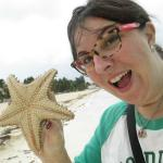 I found my first starfish on the beach in front of the hotel. (it went back in the water)
