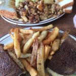 Reuben with home made fries! Must try