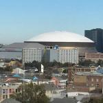Superdome as seen from rooftop patio