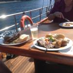 Meal on the Aphrodite cruise