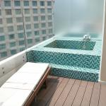 Balcony with outdoor jacuzzi. 9th floor. I think this is the only suite with this facility.