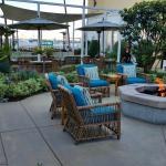 Fire pit and hotel grounds