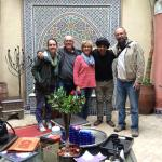 Saying goodbye to Abdel at Riad Samira
