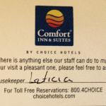 Excellent housekeeping and customer service!