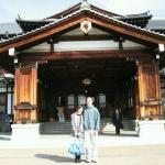 Me and my angel outside the Nara hotel