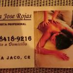 The best massage I had in Costa Rica. Tell Maria Rick sent you