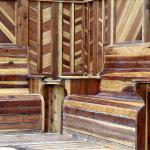 Hot Tub Wooden Benches