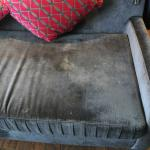 Stains on sofa pillow