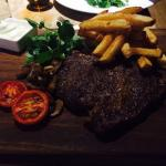 Welsh rib eye steak - absolutely delightful!