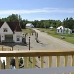 nice view on the Acadian Village