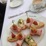 Afternoon tea, sandwiches to start with!